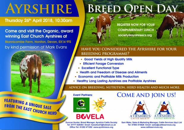 Ayrshire Breed Open Day 26th April 2018