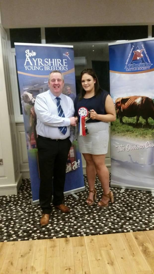 John Cochrane award winner Ellie McLean with President Gilmour Lawrie