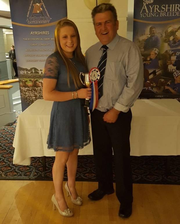 John Cochrane award winner Katie Davidson and President Keith Davidson