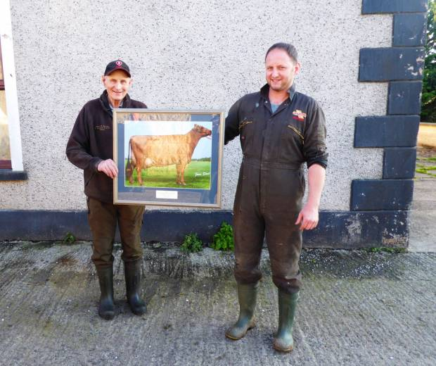 John & Michael Hunter receiving their 2019 Photographic award for Ardmore Janet 110.