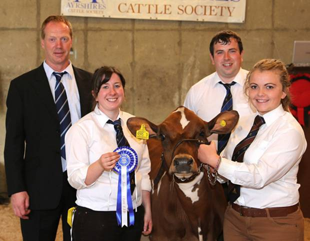 Reserve champion was Beechmount Ice Cream 3 owned by Robert and Caroline McConnell,  and exhibited by Rebecca Jones. Pictured with Peter Berresford. Picture by Jane Steel.