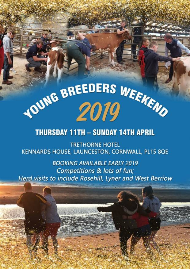 Save the date for the Young Breeders gathering 2019 in Cornwall