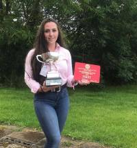 National Young Farmers Intermediate Dairy Stockjudging Champion, Evie Tomlinson